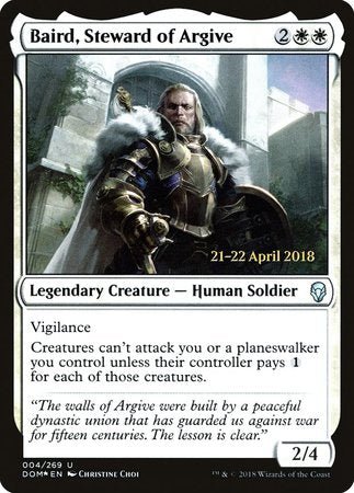 Baird, Steward of Argive [Dominaria Promos] | From The Deep Games