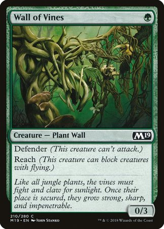 Wall of Vines [Core Set 2019] | From The Deep Games