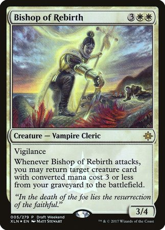 Bishop of Rebirth [Ixalan Promos] | From The Deep Games