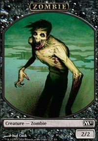 Zombie Token [Magic 2011 Tokens] | From The Deep Games