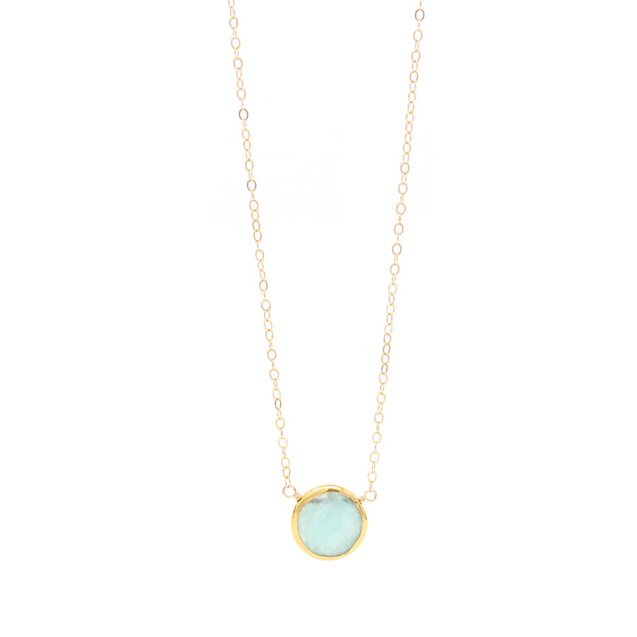 Ashley Amazonite Gemstone Necklace in Gold