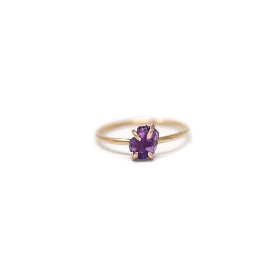 Sadie Amethyst Gemstone Prong Ring
