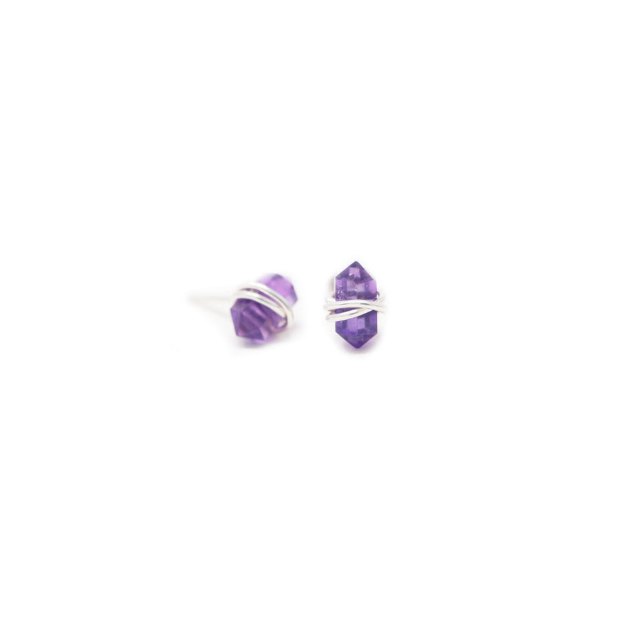 Allegra Gemstone Earrings in Amethyst
