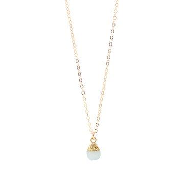 Annie Aqua Druzy Drop Necklace