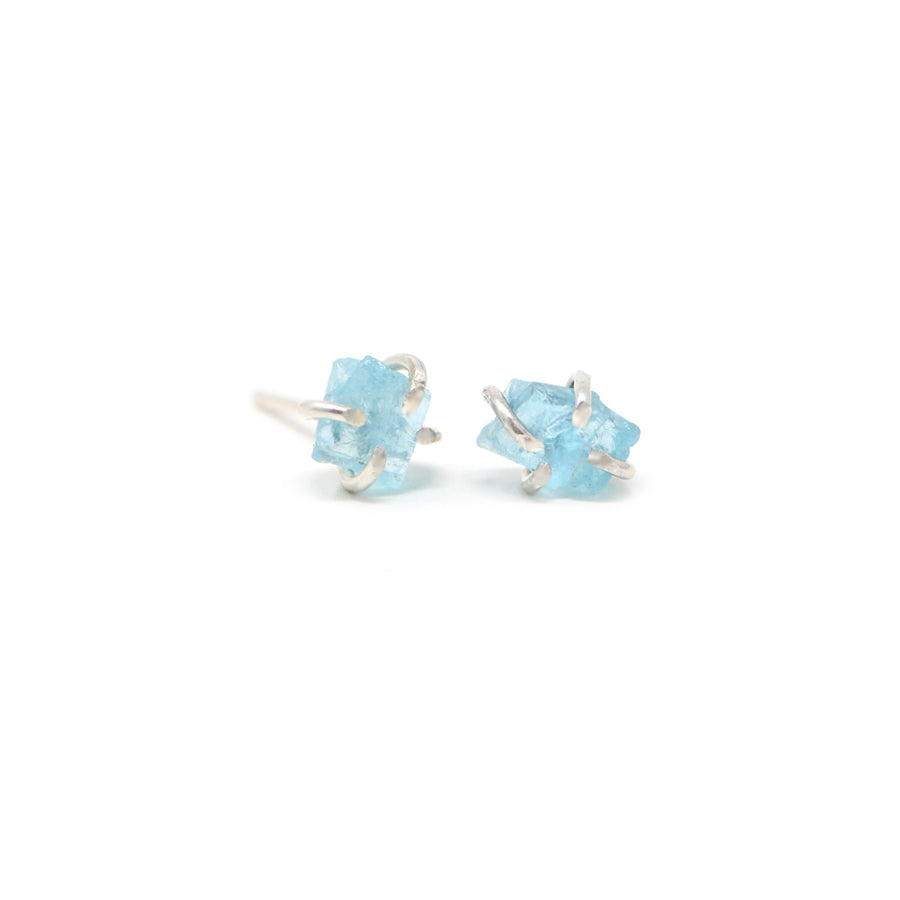 Sadie Apatite Gemstone Prong Stud Earrings