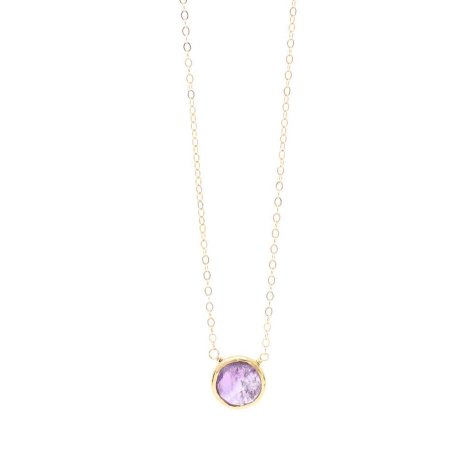 Ashley Amethyst Gemstone Necklace in Gold