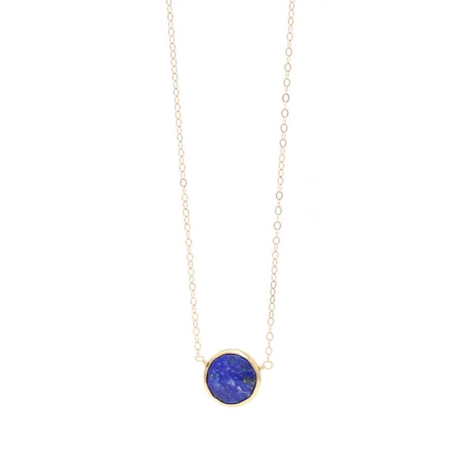 Ashley Lapis Lazuli Gemstone Necklace in Gold