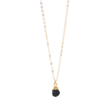 Annie Black Druzy Drop Necklace