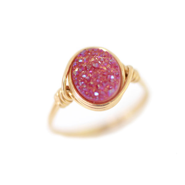 Brigitte Ring in Razzleberry Druzy