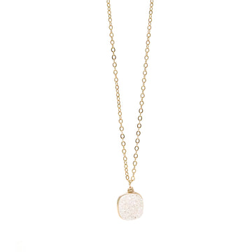 Brooke Necklace in Vanilla Druzy