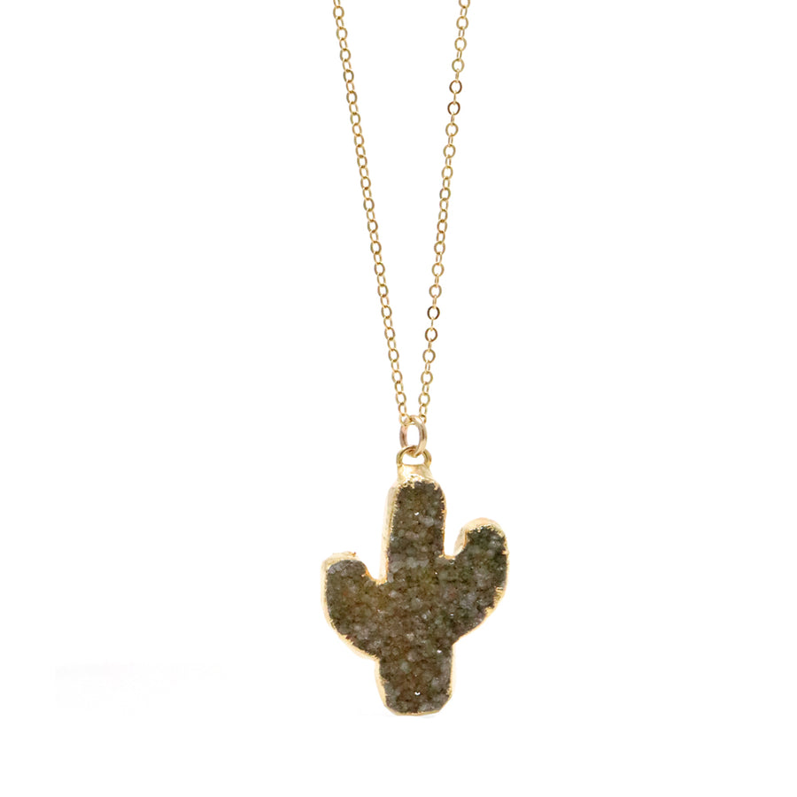Cactus Druzy Necklace #3 - One of a Kind
