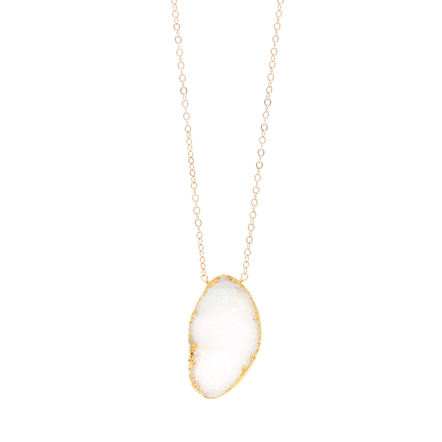 Carmen Necklace Sugar White Druzy