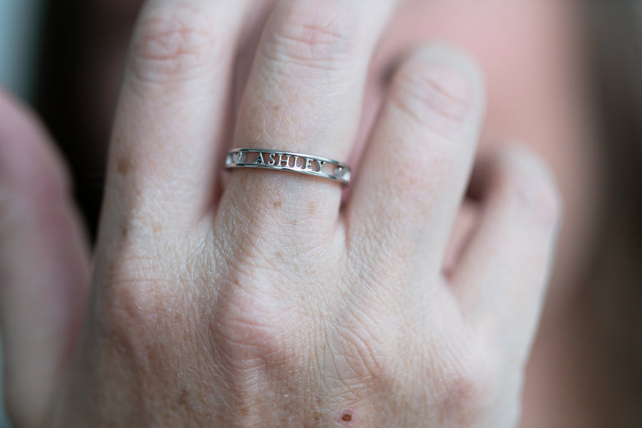 Ashley Personalized Mom Ring