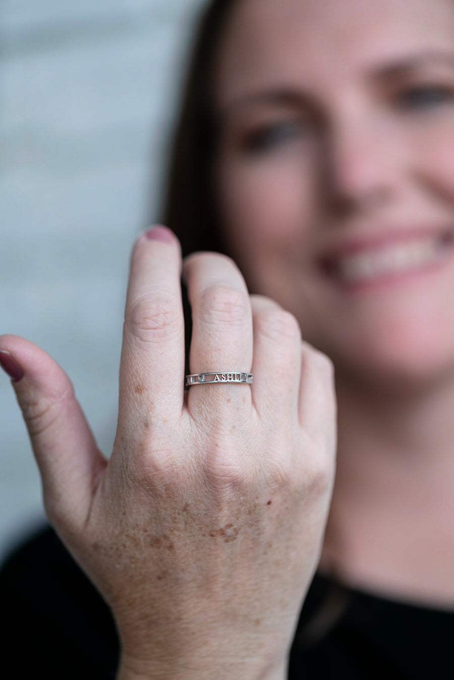 Ashley Personalized Awareness Ring