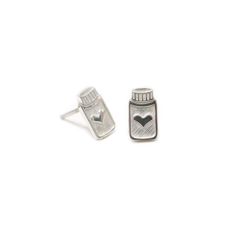 For The Love of Essential Oils Bottle Stud Earrings