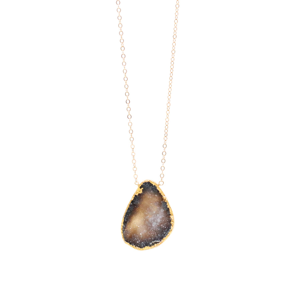 Carmen Necklace Galaxy Black Druzy - OOAK!