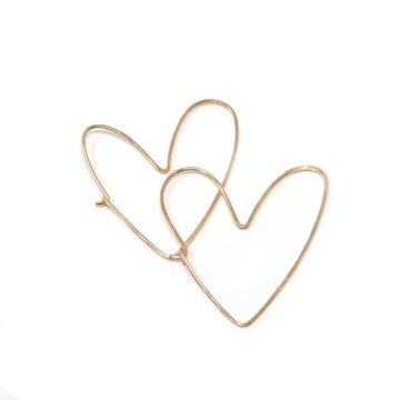 Amara Hammered Heart Hoop Earrings