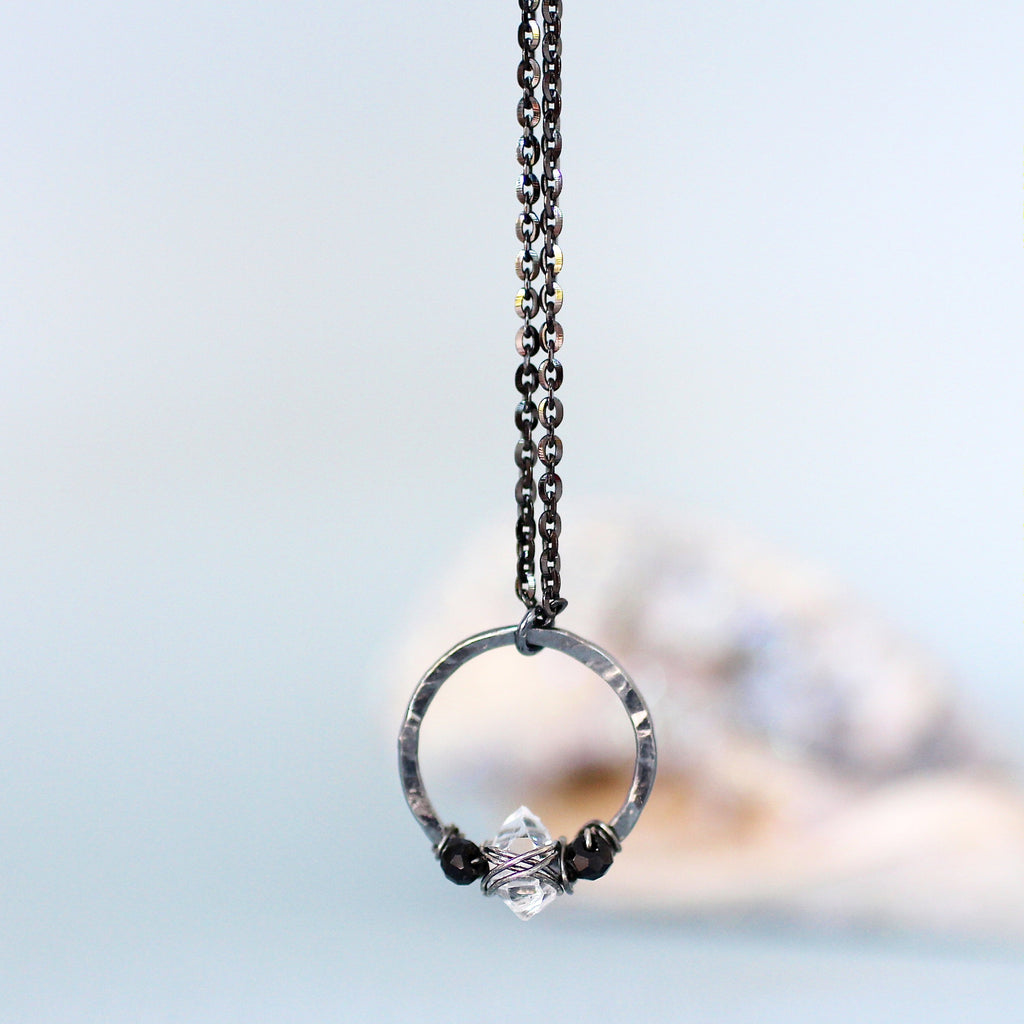 Zoey Necklace in Herkimer Diamond