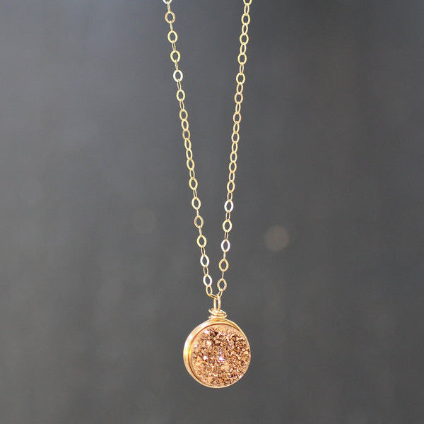 Sarah Necklace Rose Druzy