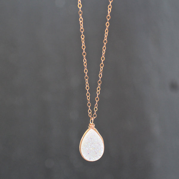 Kira Necklace Confetti Druzy