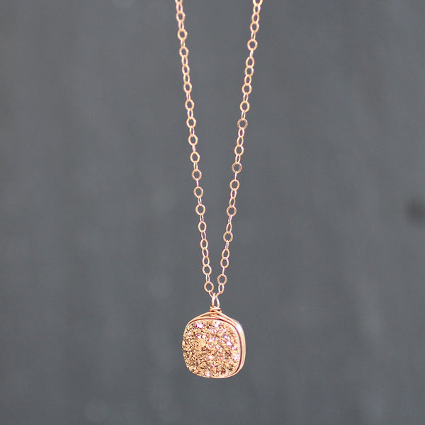 Brooke Necklace Rose Druzy