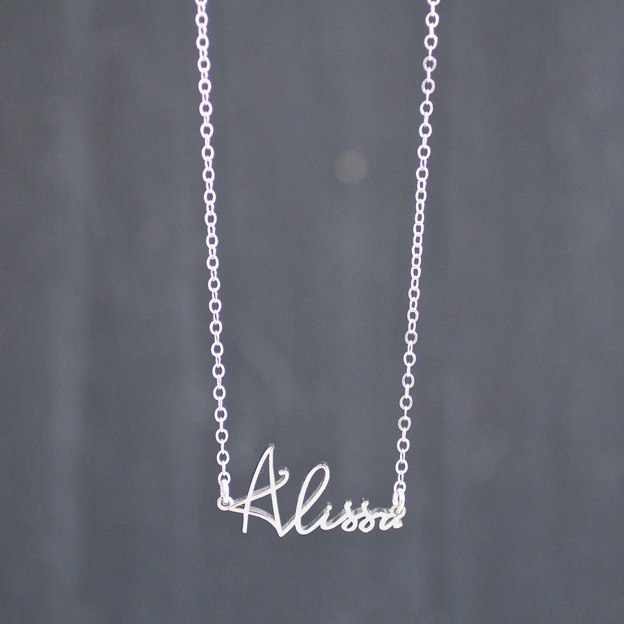 The Custom Script Name Necklace