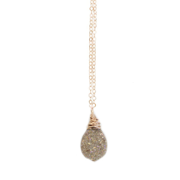 Lisa Necklace Hazelnut Druzy