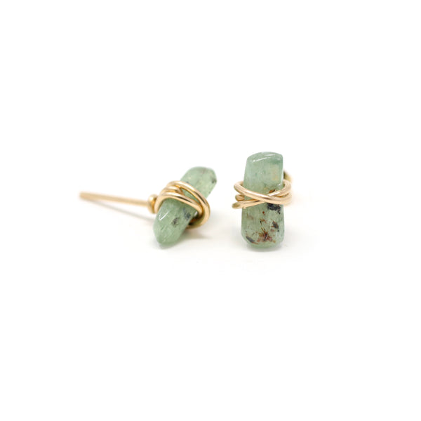 Laura Kyanite Gemstone Stud Earrings