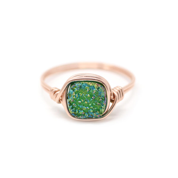 Mia Ring in Poison Ivy Druzy