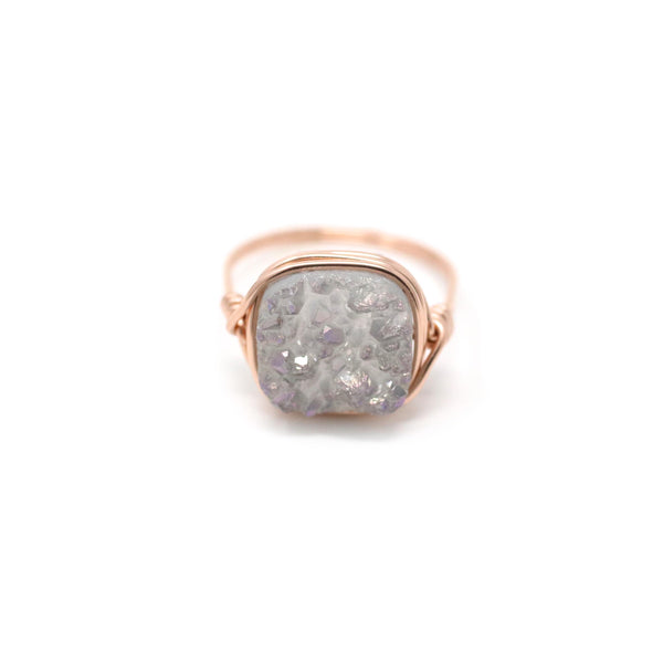 Kari Ring in Mystic Gray Druzy