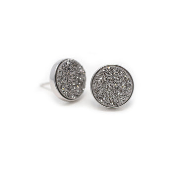 Nikita Earrings Meteorite Druzy