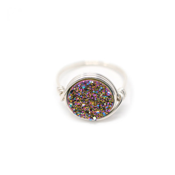 Nikita Ring Rainbow Druzy