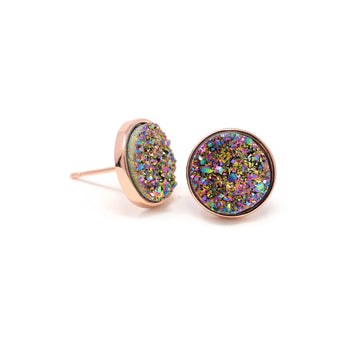 Nikita Earrings Rainbow Druzy