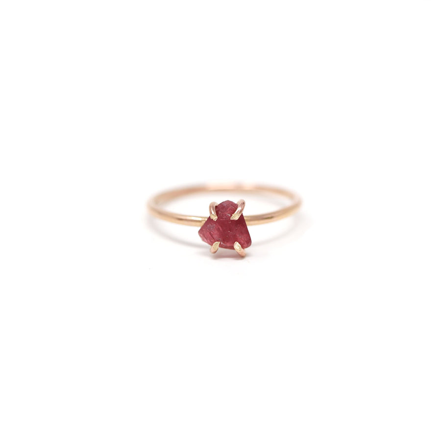Sadie Ruby Gemstone Prong Ring