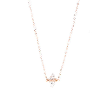 Kayla Necklace Salt & Pepper Herkimer Diamond