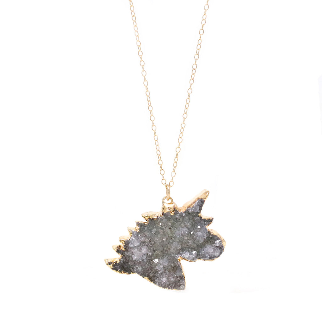 Unicorn Druzy Necklace - One of a Kind (choose your own stone)