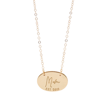 Mother's Day Special Identity Established Oval Necklace