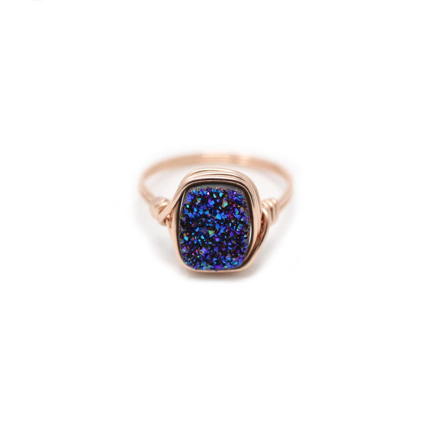 Olivia Ring in Wild Berry Druzy