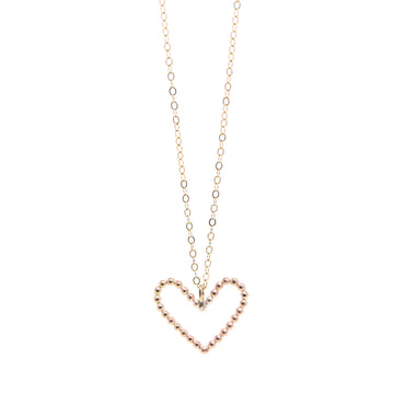 Amara Beaded Heart Necklace