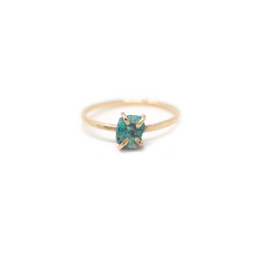 Sadie Chrysocolla Gemstone Prong Ring