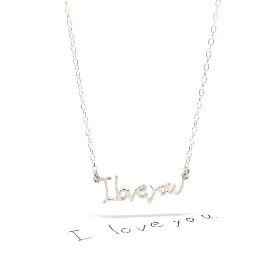 The Custom Handwriting Necklace, Bracelet and Ring!