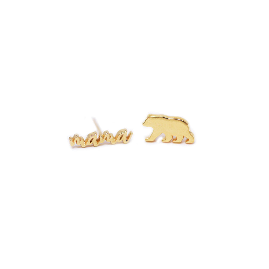Mama Bear Stud Earrings