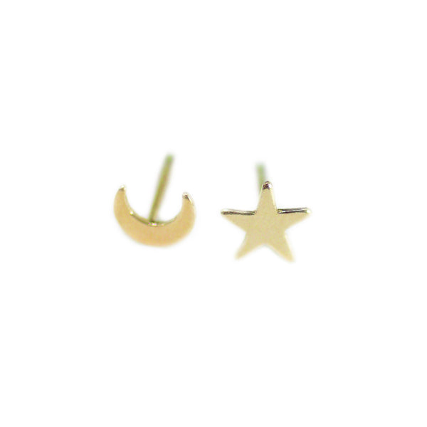 Moon & Star Stud Earrings (Mix + Match)