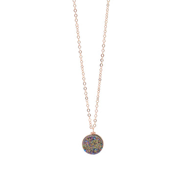 Nikita Necklace Rainbow Druzy