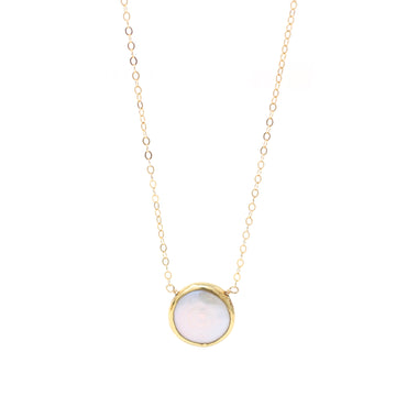 Ashley Necklace Pearl in Gold