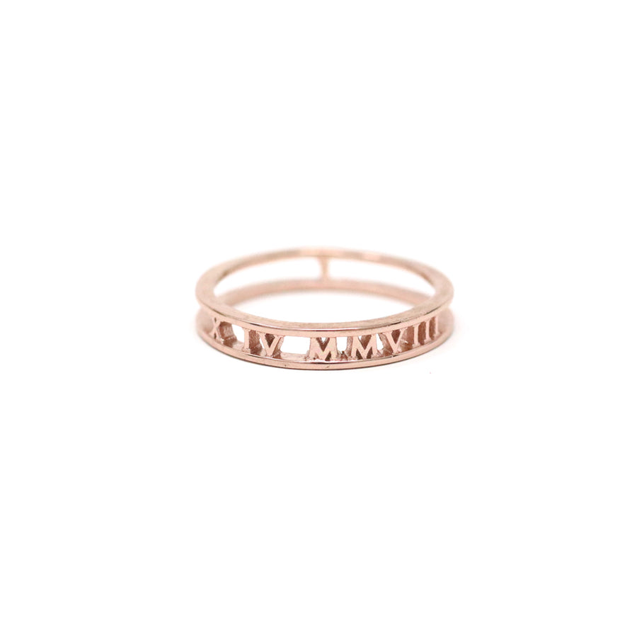 Ashley Personalized Roman Numeral Ring