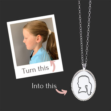 Personalized Silhouette Frame Necklace - Create Your Own!