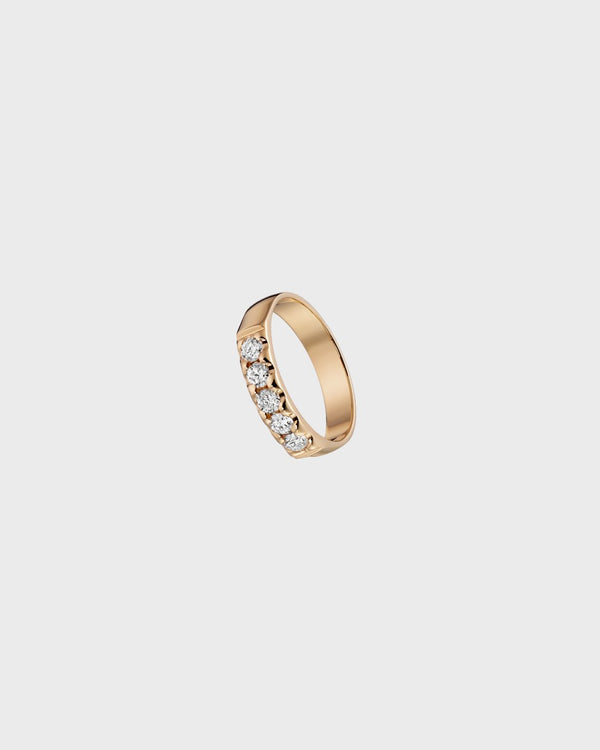 Auringonsäde Ring 5 x 0,08 ct – Kalevala Jewelry