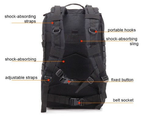 Tactical Army Backpack, 3D Molle, 45L
