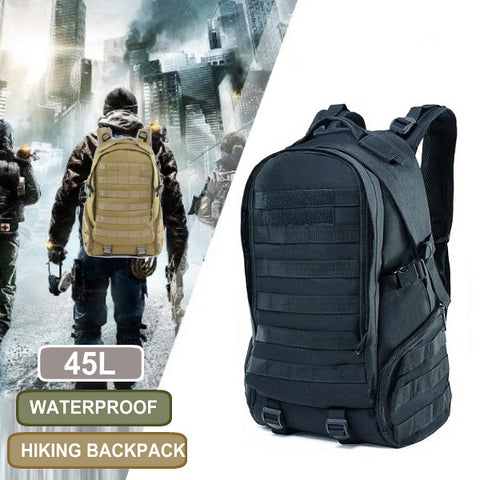 Camping Tactical Army Backpack Sports Traveling Bag 45L